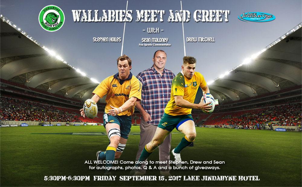 Meet Wallabies Players Friday 15 September!