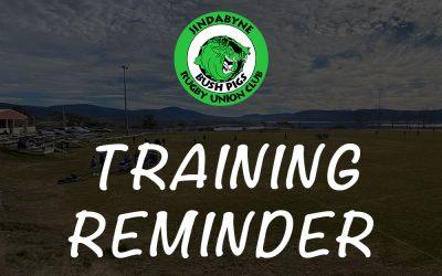 Training Reminder